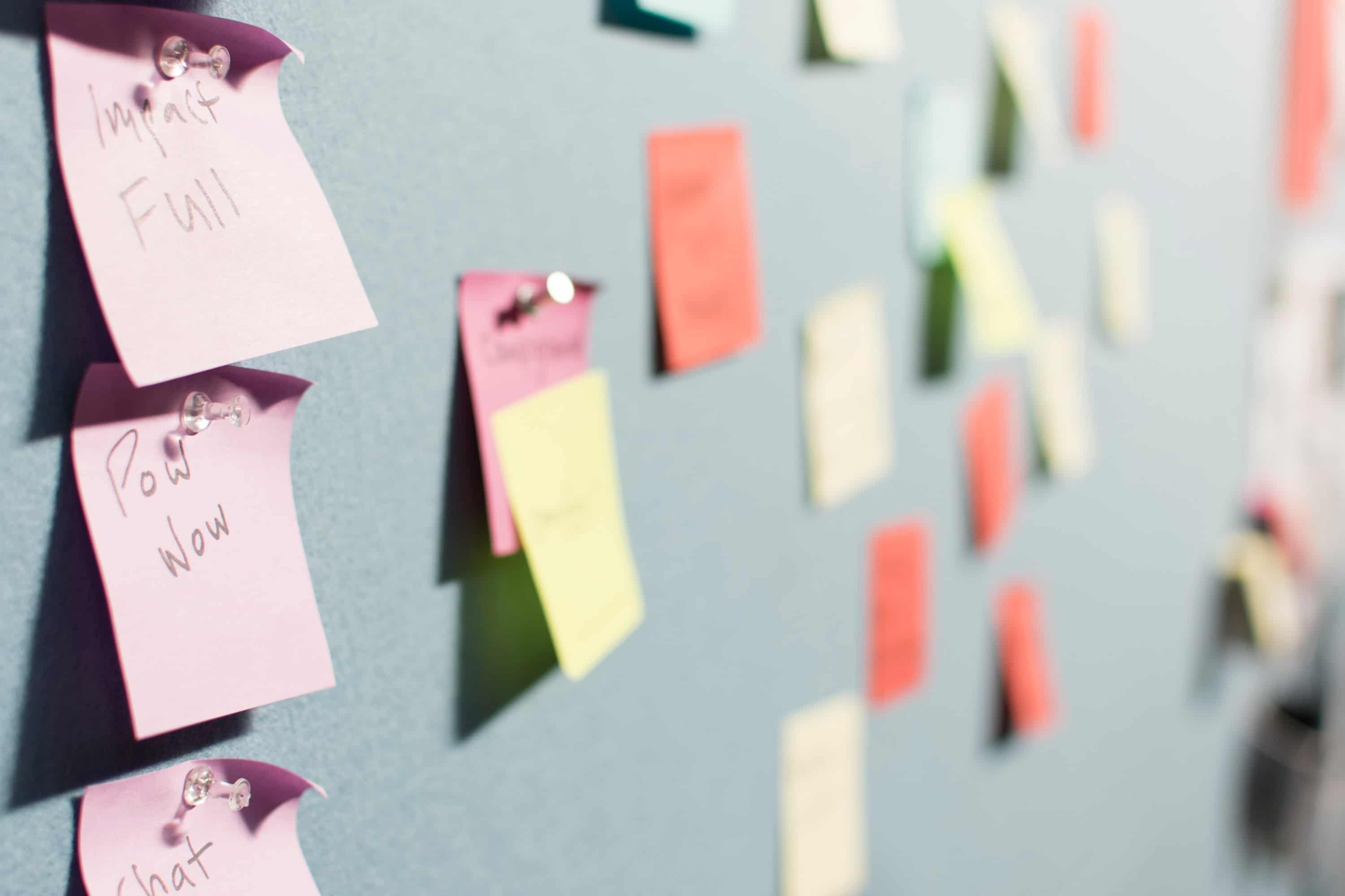 sticky notes to help your agile marketing plan